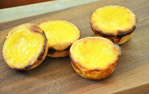 Custard Tarts -- as they should be -- using rough puff pastry.