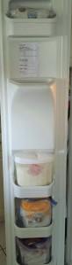Flour Cheat Sheet on the Freezer Door!