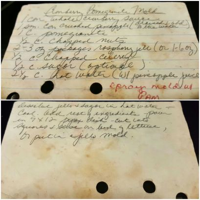 Well-used recipe cards!