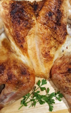 Spatchcocked Turkey - ready is 80 minutes!