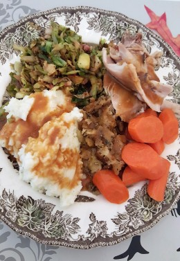 A plate full of goodness - Thanksgiving in June!